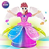 one direction barbie dolls - Girl Dancing Walking Moving Princess Music Doll Barbie Dance Spin Ballerina Electronic Music Doll with LED Colorful Light, Electronic Dancing Music Robot, Best Gift for Girls, No Battery (B)