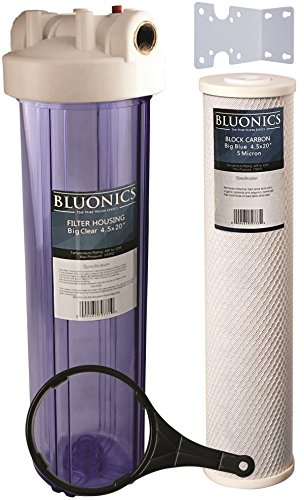 "BLUONICS 20"" Big Blue Whole House Water Filter 5 Micron C..."