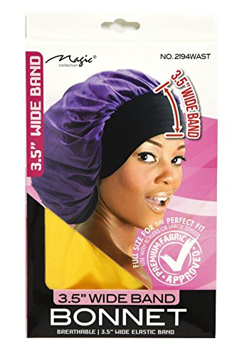 Magic Collection 3.5 Inch Wide Band Bonnet Elastic Band Yellow (Yellow Bonnet)