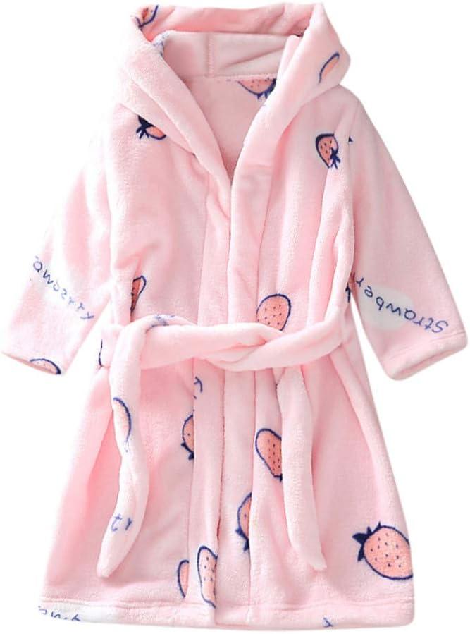 ELECTRI Unisexe B/éb/é Filles Gar/çons /À Capuche Peignoir Robe De Chambre Enfants V/êtements De Nuit Chemise De Nuit Pyjama