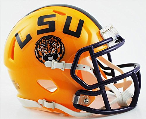 New Riddell Louisiana State LSU Tigers Speed Mini Football Helmet ()