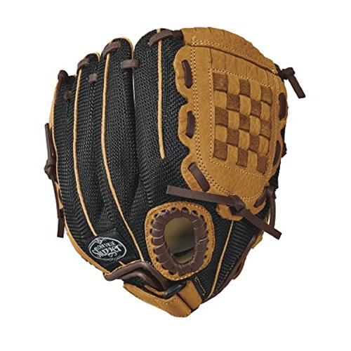 Louisville Slugger 10-Inch FG Genesis Baseball Infielders Gloves, Brown, Right Hand Throw (Tpx Mesh)