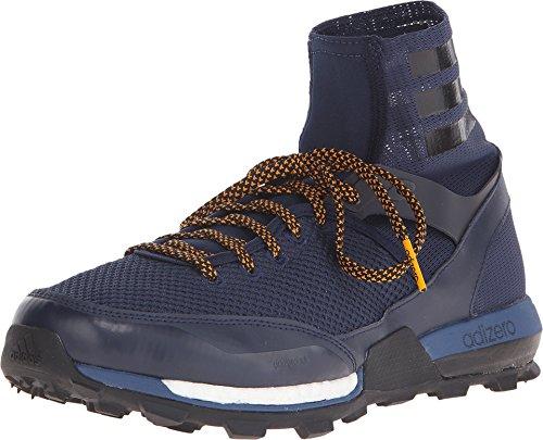 (Adidas Sport Performance Men's Adizero XT 5 Boost Trail Running Sneakers, Navy Textile, Rubber, 6.5 M)
