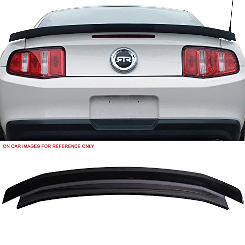 (Pre-Painted Trunk Spoiler Fits 2010-2014 Ford Mustang | Ebony Black ABS Rear Spoiler Wing Tail Lid Finnisher Deck Lip Other Color available by IKON MOTORSPORTS | 2011 2012 2013)