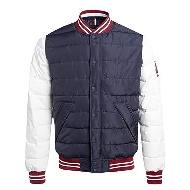 beaucoup à la mode  extrêmement unique Teddy Smith - Blouson Veste Teddy Bleu et Blanc BONTO de ...
