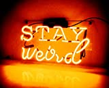 Night Light for Kids Girls Adults Neon Sign Glass Handmade Custom Gift Home Decoration Light Lamp Wall Decor - for Home, Bedroom, Hallway, Stairways, Garage, Windows, Beer, Bar - STAY weird