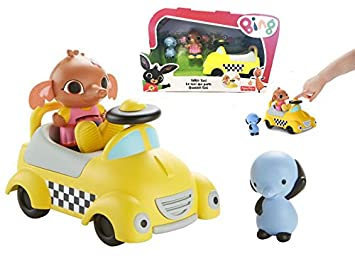 Fisher Price Bing Talkie Taxi Vehicle With Sula Amma Figures