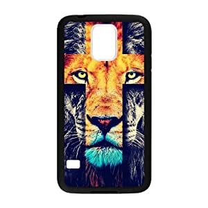 Samsung Galaxy S5 Case,Fashion Lion Cross & Jesus Christ Cross Personalized Design Cover With Hign Quality Rubber Plastic Protection Case