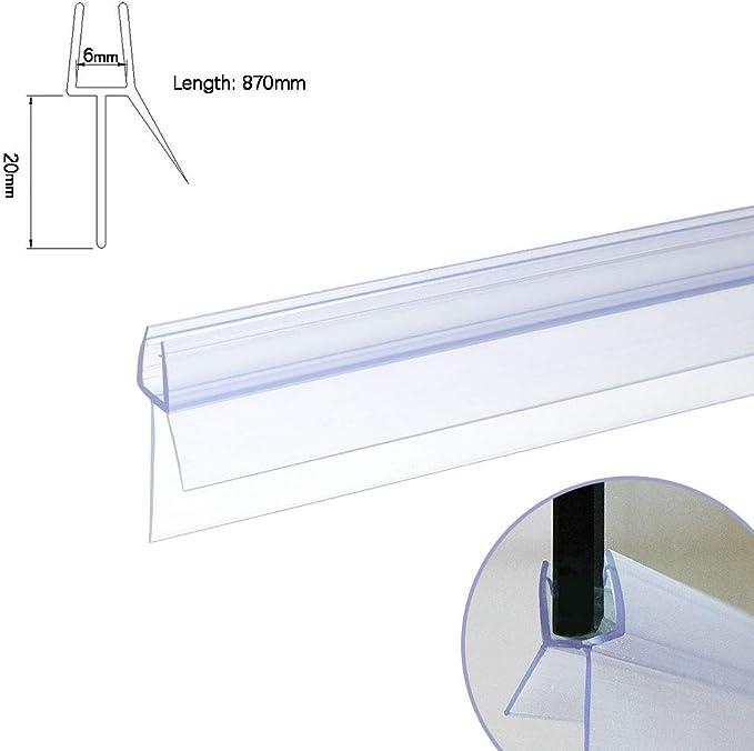 Ikon - Tira de Sellado para mampara de Ducha (Grosor de 4 a 6 mm ...