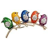 Szxc Jewelry Enamel Easter Crystal Newborn Bird Lapel Brooch Pin Costume For Her