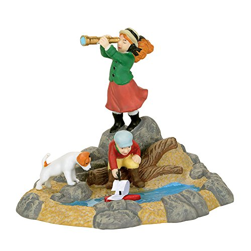 Department 56 Dickens Village Yarmouth's Discovery Bay Accessory Figurine, (Discovery Bay)