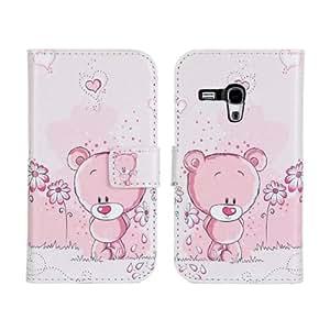 ANDHOWELL Cute Design Cartera Carcasa del tirón la cubierta Cuero protectora Caso Tapa para Samsung Galaxy S3 Mini I8190