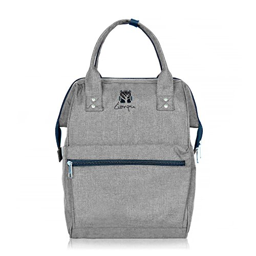 BAGSMITH Multi-Function Diaper Backpack Bag For Mom Travel Backpack With Laptop Pocket Lightweight Large Capacity Stylish Durable (gray) by Bagsmith
