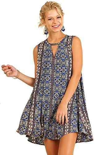Fabulous Foulard Print! Sleeveless Swing - Sleeveless Keyhole Dress Shopping Results