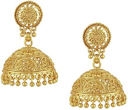 Bodha 18k Gold Plated Traditional Indian Jhumka Earrings (SJ_45)