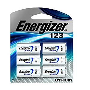 Energizer 123 Lithium Battery, 6-Count