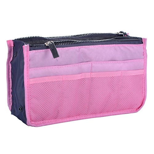 CJESLNA Lady Women Travel Insert Handbag Organiser Purse Large Liner Organizer Tidy Bag-Pink