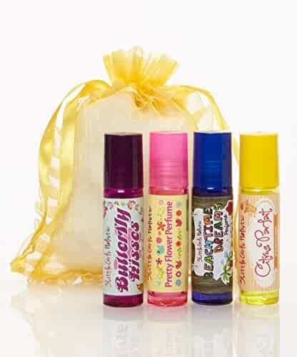Natural and Organic Roll On Perfume Set for Little Girls by 3Girls Holistic