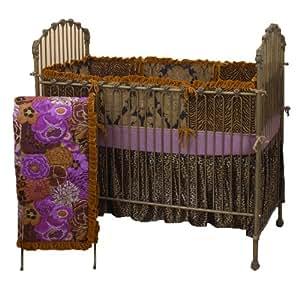Cotton Tale Designs Wild Elegance 4 Piece Bedding Set, Purple Black (Discontinued by Manufacturer)