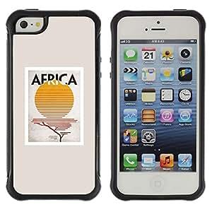 "Pulsar iFace Series Tpu silicona Carcasa Funda Case para Apple iPhone SE / iPhone 5 / iPhone 5S , Regístrate Sun Impresiones minimalista Beige"""