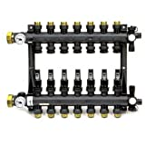 Uponor Ep Heating Manifold Assembly with Flow Meter 7 Loops A2670701