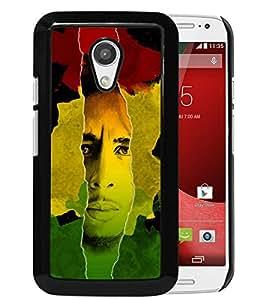 AZE Beautiful Fashion Bob Marley Black Case Cover For Moto G 2nd gen