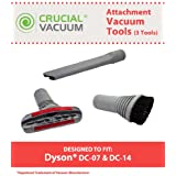 3-Piece Accessory Tool Set for Dyson DC-07, DC-14 Vacuums; Compare to Dyson Part Nos. 904083-07, 900188-16, 907363-01; Designed & Engineered by Think Crucial