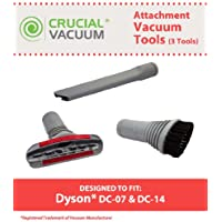 Replacement for Dyson DC07 & DC14 Crevice Tool, Upholstery Tool Set & Dusting Brush, Compatible With Part # 904083-07, 900188-16 & 907363-01, by Think Crucial
