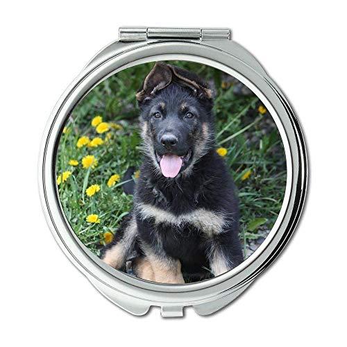 Mirror,Small Mirror,Puppy dog dog b q,pocket mirror,1 X 2X -