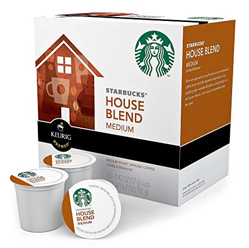 Keurig K-Cup Starbucks House Blend,16-Pack (0.42oz Cups)