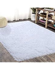 FlashLTD Fluffy Ultra Soft Shaggy Area Rugs for Bedroom Fluffy Carpet for Kids Room Bedside Nursery Mats