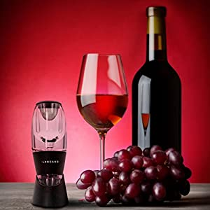 Best Wine Aerator Decanter – Premium Red Wine Pourer & Diffuser with Gift Box, Stand, Velvet Pouch and BONUS ebook
