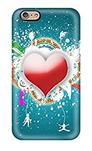 Durable Funky Heart Back Case/cover For Iphone 6