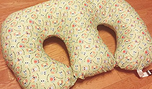 THE TWIN Z PILLOW - Waterproof OWLS Pillow - The only 6 in 1 Twin Pillow Breastfeeding, Bottlefeeding, Tummy Time & Support! A MUST HAVE FOR TWINS! - No extra cover
