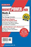 Math A Regents Power Pack, Lawrence S. Leff and Barron's Educational Editorial Staff, 0764176277