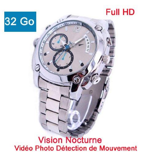 Reloj Mini Cámara oculta espía 32 GB Full HD 1920 x 1080, visión nocturna sporthd 37 AM32: Amazon.es: Electrónica