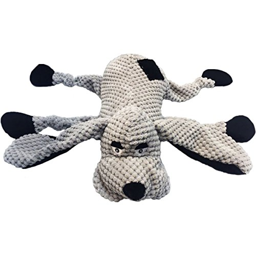 Price comparison product image NVMK SALES Nandog My BFF Corduroy Dog Plush Toy, Gray