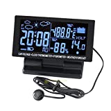 FidgetFidget Auto LCD Digital Clock Car Voltmeter F/C Thermometer Hygrometer Weather Forecast