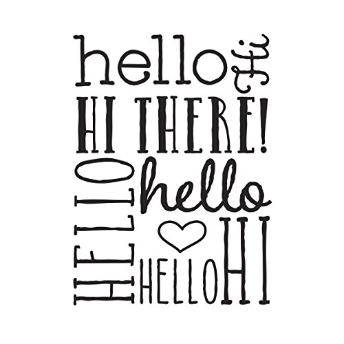 Background Embossing Folder 4.25X5.75-Hello Bold