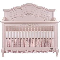 Evolur Aurora 5-in-1 Convertible Crib, Blush Pink Pearl