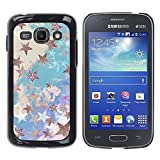 LASTONE PHONE CASE / Slim Protector Hard Shell Cover Case for Samsung Galaxy Ace 3 GT-S7270 GT-S7275 GT-S7272 / Blue Gold Painting Abstract Bling