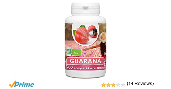 Guarana Organica - 200 tabletas 400 mg