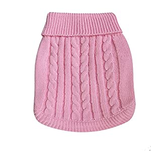 Beautygirl Pets Dog Cat Warm Solid Color Sweater Puppy Apparel Costume