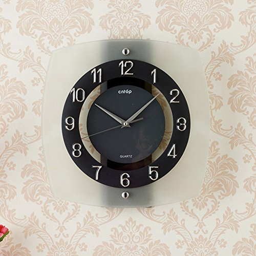 Wall Clock modern Quartz quiet decoration not refined of health in Arab figures-a 12inch by gerewe