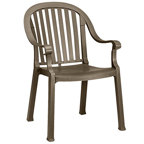 GROSFILLEX INC Grosfillex – US650037-23 x 24 x 34 Resin Armchair with 300 lb. Weight Capacity, Bronze Mist Resistant To Discoloration