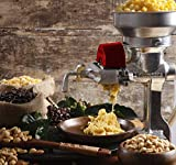 Victoria Cast Iron Manual Grain Mill. Manual Coffee Grinder, Corn Mill, Seed Grinder with Low Hopper. Table Clamp
