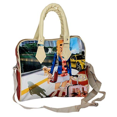 Kuber IndustriesTM Casual Elegante Digital Impreso exclusivo Formal Amplio de mano Duffle de Viaje Bolso de mano bolsa de Hobo Hobo bolso de mano elegante bolso de mano bolso de mano (tamaño pequeño)