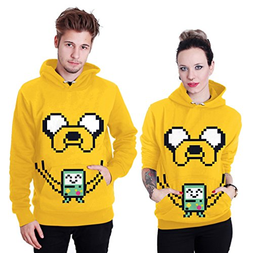 THENICE Neutral Long Sleeve Hoodies Sweatshirts lover Couples suits (XXL, Digital dog) ()