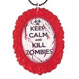 Kill Zombies Cameo Necklace