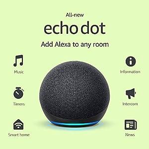 Best Epic Trends 5192MlTYinL._SS300_ All-new Echo Dot (4th Gen, 2020 release) | Smart speaker with Alexa | Charcoal